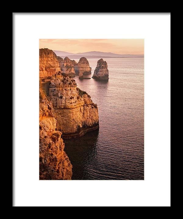 Algarve Framed Print featuring the photograph Algarve Coastline, Lagos, Portugal by Zu Sanchez Photography