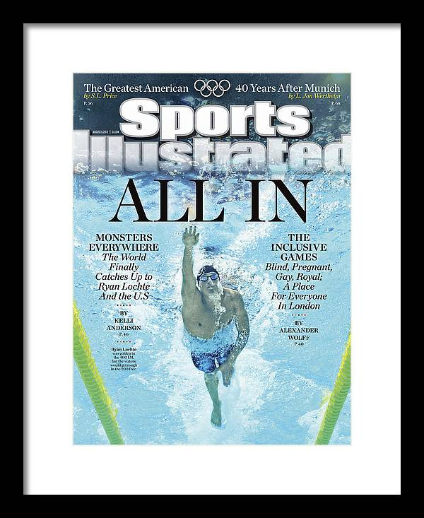 Underwater Framed Print featuring the photograph All In 2012 Summer Olympics Sports Illustrated Cover by Sports Illustrated