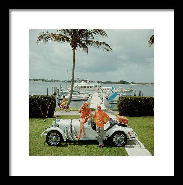 People Framed Print featuring the photograph All Mine by Slim Aarons