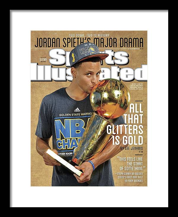 Magazine Cover Framed Print featuring the photograph All That Glitters Is Gold Sports Illustrated Cover by Sports Illustrated