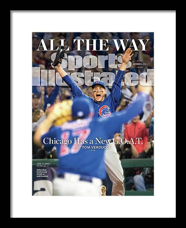 Magazine Cover Framed Print featuring the photograph All The Way Chicago Has A New G.o.a.t. Sports Illustrated Cover by Sports Illustrated
