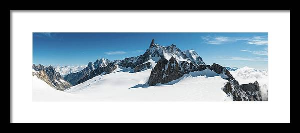 Scenics Framed Print featuring the photograph Alps White Wilderness Dramatic by Fotovoyager