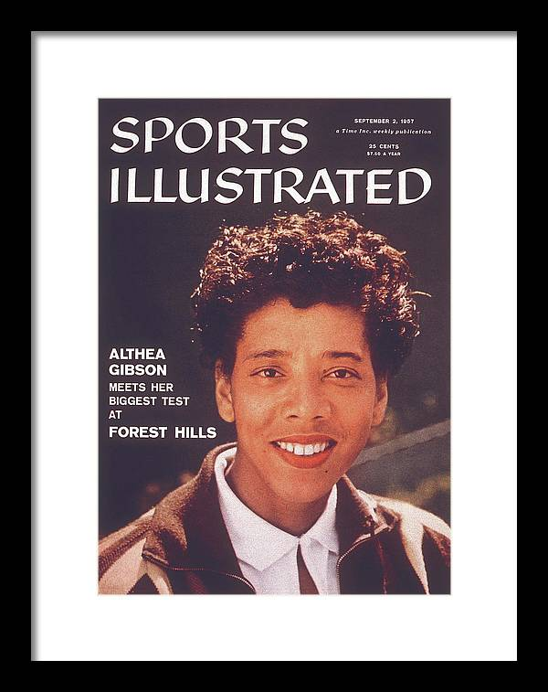 Tennis Framed Print featuring the photograph Althea Gibson, 1956 Us National Championships Sports Illustrated Cover by Sports Illustrated