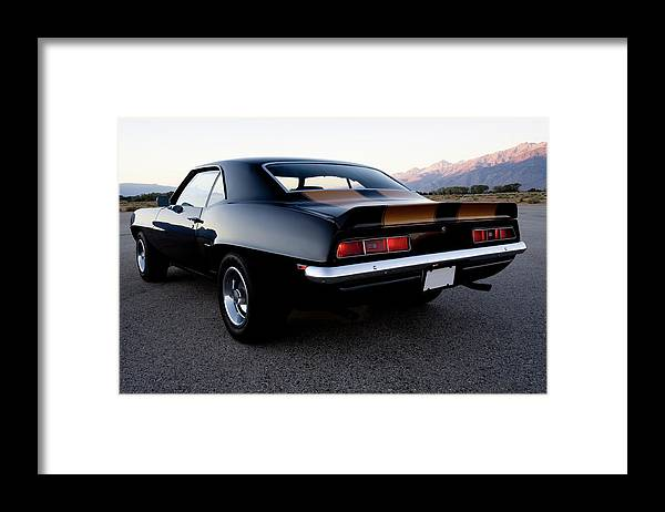 Drag Racing Framed Print featuring the photograph American Muscle Car by Sierrarat