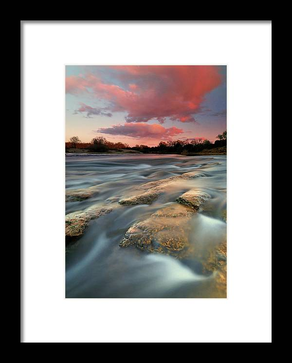 Scenics Framed Print featuring the photograph American River Parkway At Sunset by David Kiene