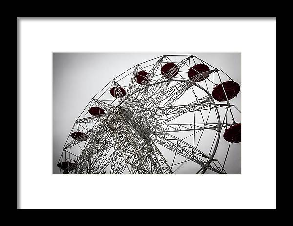 Empty Framed Print featuring the photograph Amusement Park by Aluma Images