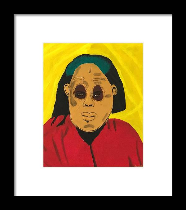African Framed Print featuring the painting Ancestral Spirit by Sonye Locksmith