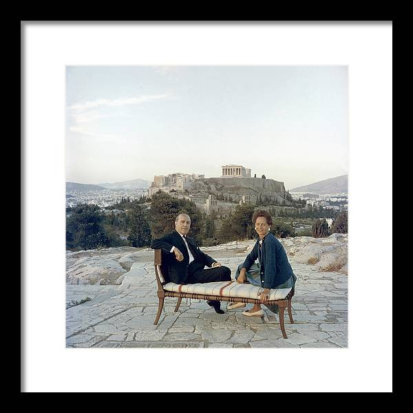 People Framed Print featuring the photograph Ancient Greek Furniture by Slim Aarons