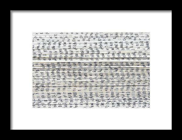 Information Medium Framed Print featuring the photograph Ancient Paper Book by Valerie Loiseleux