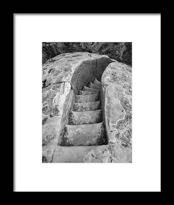 Stone Framed Print featuring the photograph Ancient Stairs in El Morro by Candy Brenton