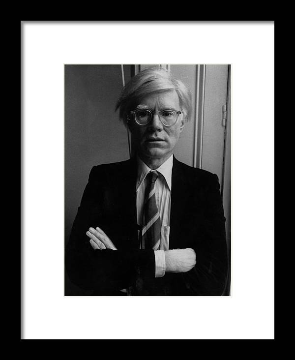 1980-1989 Framed Print featuring the photograph Andy Warhol by John Minihan