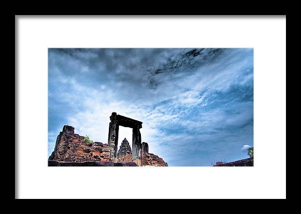 Cambodian Culture Framed Print featuring the photograph Angkor by Cjfan