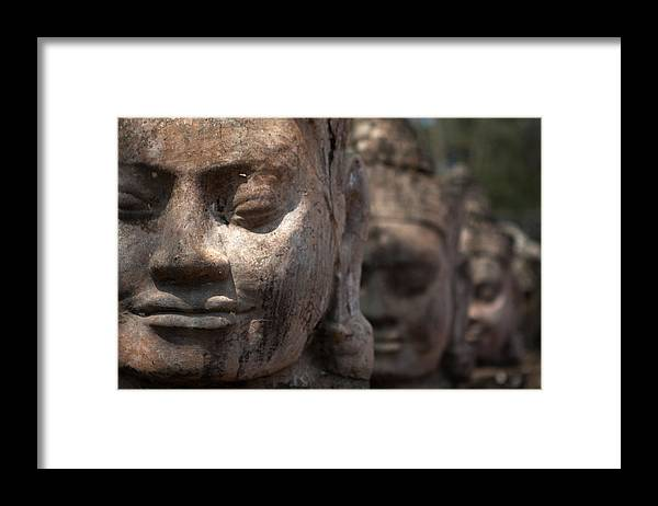 Art Framed Print featuring the photograph Angkor Warriors by Romulo Rejon