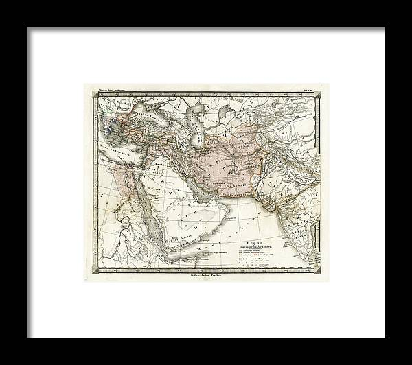 Arabia Framed Print featuring the digital art Antique Map Of Alexander The Greats by Duncan1890