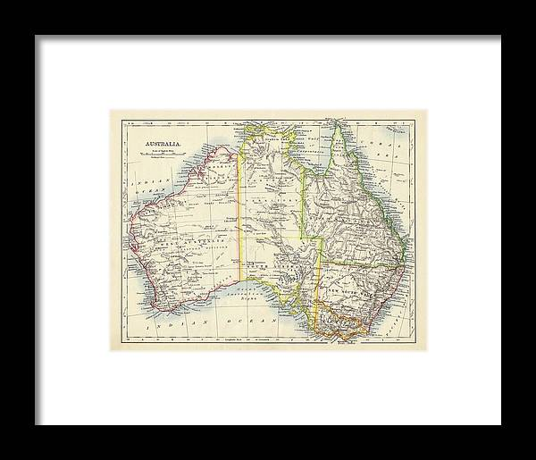Free Map Of Australia To Print.Antique Map Of Australia Framed Print