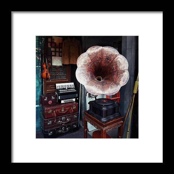 Flea Market Framed Print featuring the photograph Antique Victrola In Panjiayuan Flea by Design Pics / Keith Levit