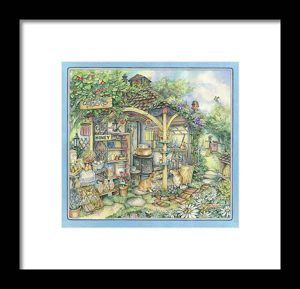 Apiary Framed Print featuring the painting Apiary by Kim Jacobs