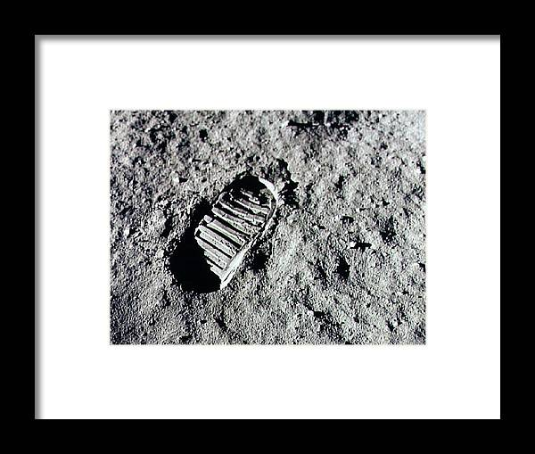 People Framed Print featuring the photograph Apollo 11 Mission Leaves First by Nasa