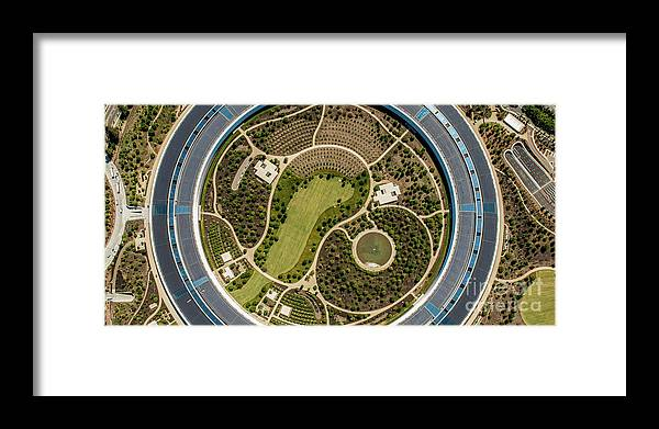 Panoramic Framed Print featuring the photograph Apple Park by Steve Proehl