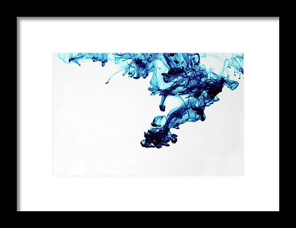 Mixing Framed Print featuring the photograph Aqua Art 1 Of 5 by Bpalmer