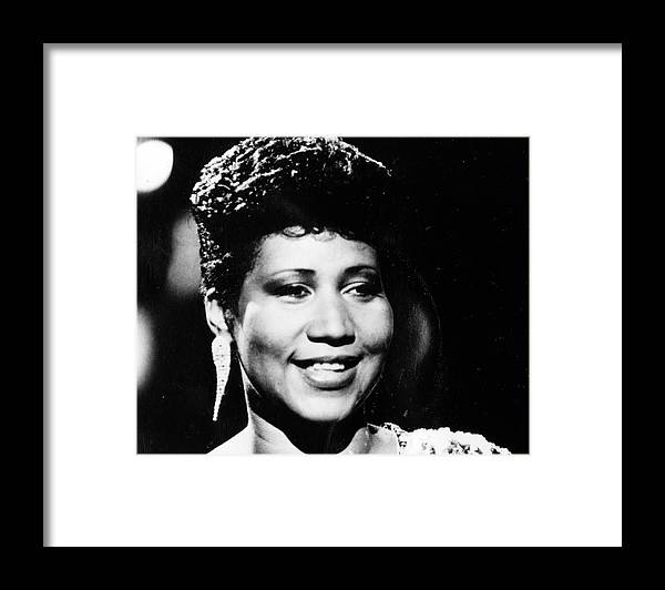 Aretha Franklin Framed Print featuring the photograph Aretha Franklin by Afro Newspaper/gado