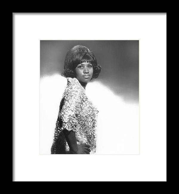 Singer Framed Print featuring the photograph Aretha Franklin Portrait by Michael Ochs Archives