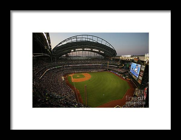 American League Baseball Framed Print featuring the photograph Arizona Diamondbacks Vs. Milwaukee by Mlb Photos