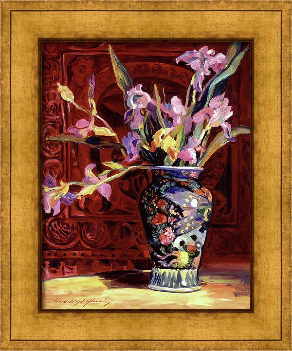Arrangement Of Irises by David Lloyd Glover