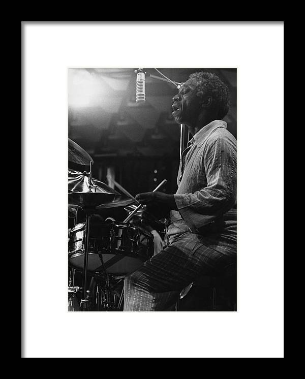 Concert Framed Print featuring the photograph Art Blakey by David Redfern