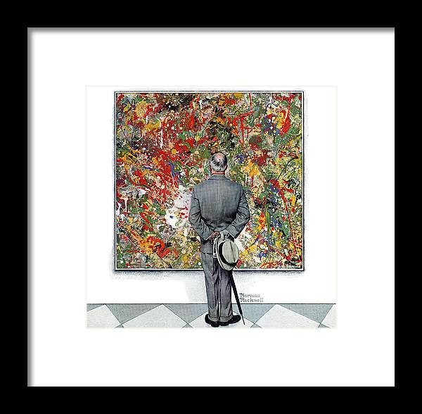 Art Framed Print featuring the drawing Art Connoisseur by Norman Rockwell
