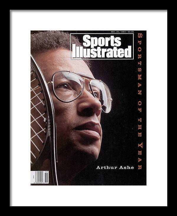 Magazine Cover Framed Print featuring the photograph Arthur Ashe, 1992 Sportsman Of The Year Sports Illustrated Cover by Sports Illustrated