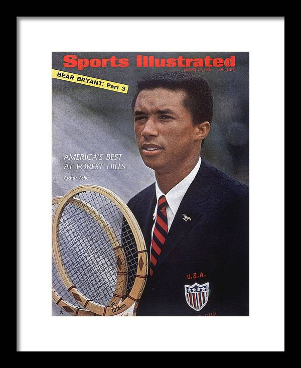 Magazine Cover Framed Print featuring the photograph Arthur Ashe, Tennis Sports Illustrated Cover by Sports Illustrated