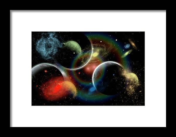 Majestic Framed Print featuring the digital art Artists Concept Illustrating The Edge by Stocktrek Images/mark Stevenson