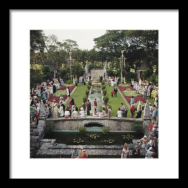People Framed Print featuring the photograph Arts Festival by Slim Aarons