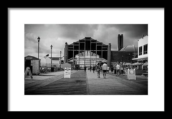 Nj Framed Print featuring the photograph Asbury Park Boardwalk by Steve Stanger