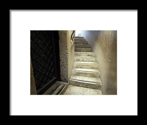 Stone Staircase Framed Print featuring the photograph Ascend by Royce A Owens