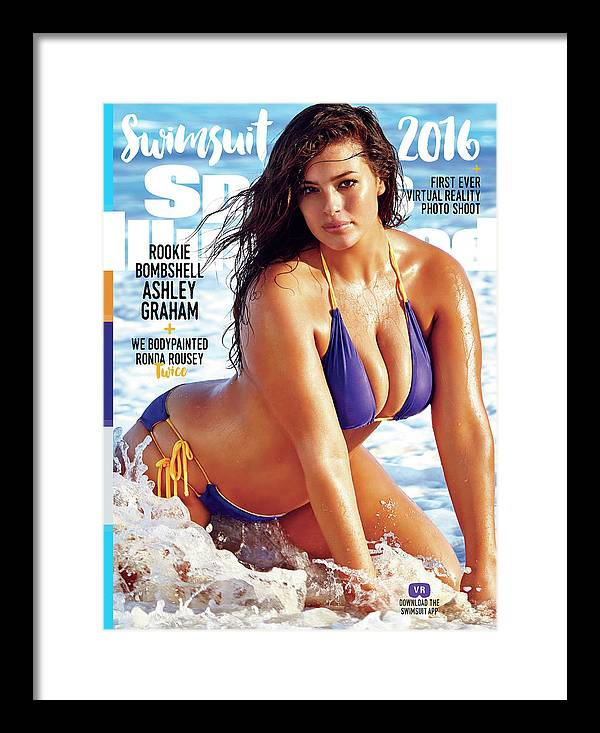 Ashley Graham Swimsuit 2016 Sports Illustrated Cover Framed Print By Sports Illustrated