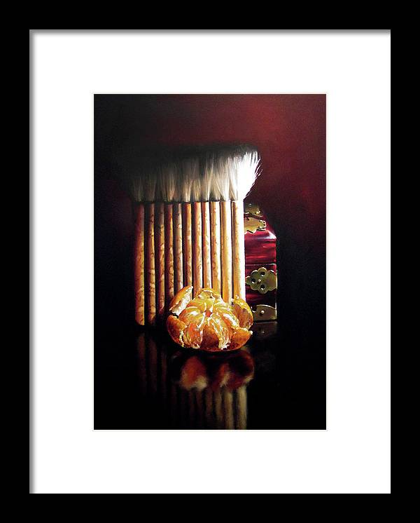 Mandarin Framed Print featuring the pastel Asian Influence by Dianna Ponting