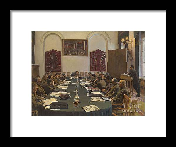 Oil Painting Framed Print featuring the drawing Assembly Of The Revolutionary Military by Heritage Images