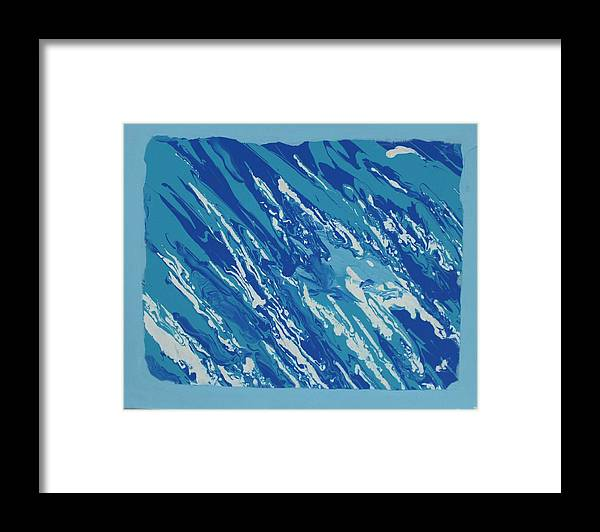 Peace Framed Print featuring the painting At Peace by Sonye Locksmith