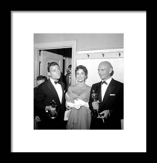 1950-1959 Framed Print featuring the photograph At The Oscars by Michael Ochs Archives
