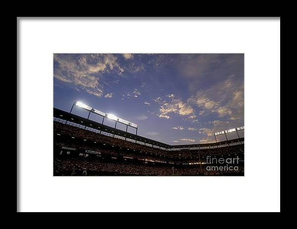American League Baseball Framed Print featuring the photograph Athletics V Orioles by Doug Pensinger
