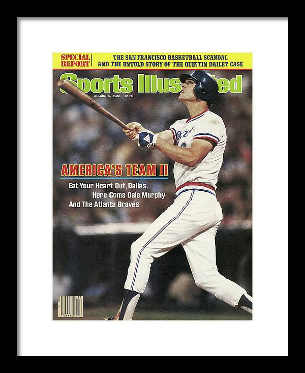 Atlanta Framed Print featuring the photograph Atlanta Braves Dale Murphy... Sports Illustrated Cover by Sports Illustrated