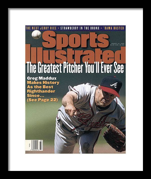 Candlestick Park Framed Print featuring the photograph Atlanta Braves Greg Maddux... Sports Illustrated Cover by Sports Illustrated