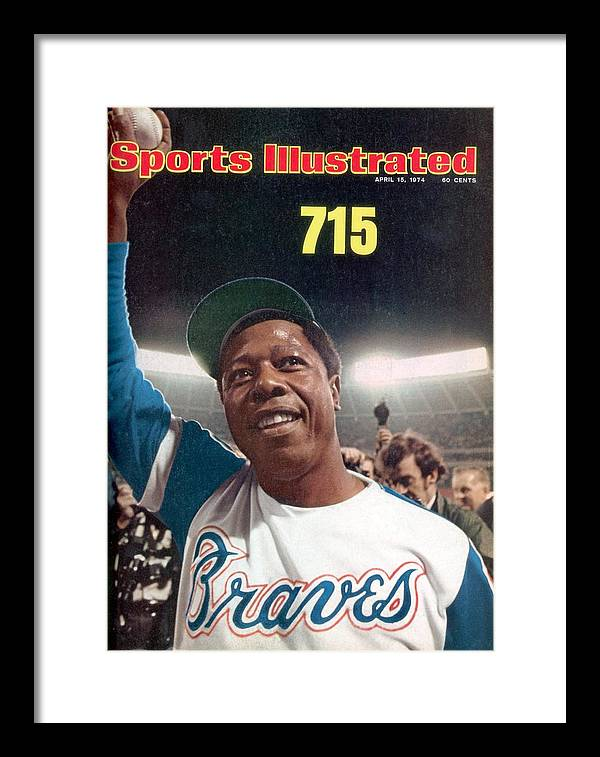 Magazine Cover Framed Print featuring the photograph Atlanta Braves Hank Aaron Sports Illustrated Cover by Sports Illustrated
