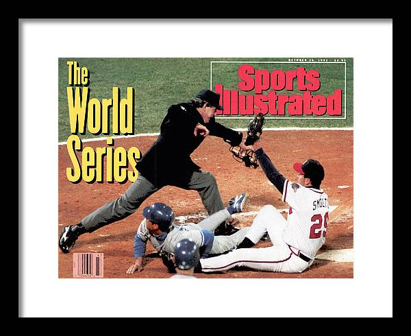 Atlanta Framed Print featuring the photograph Atlanta Braves John Smoltz, 1992 World Series Sports Illustrated Cover by Sports Illustrated