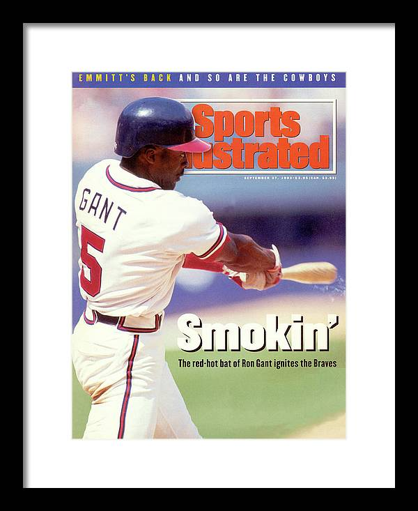 Atlanta Framed Print featuring the photograph Atlanta Braves Ron Gant... Sports Illustrated Cover by Sports Illustrated