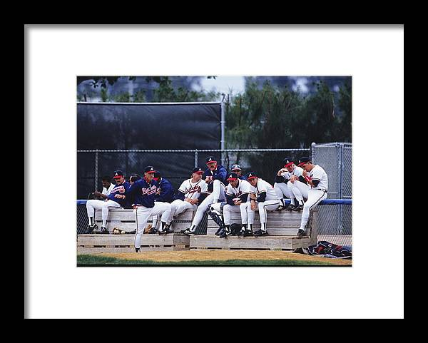 Florida Framed Print featuring the photograph Atlanta Braves by Ronald C. Modra/sports Imagery
