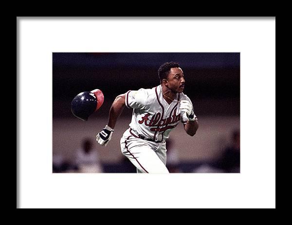 American League Baseball Framed Print featuring the photograph Atlanta Braves V Minnesota Twins by Ronald C. Modra/sports Imagery