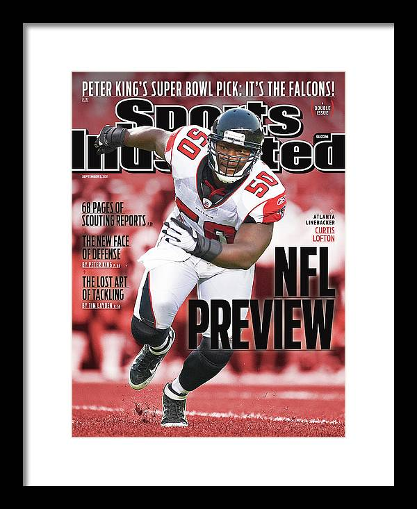 Atlanta Framed Print featuring the photograph Atlanta Falcons Curtis Lofton, 2011 Nfl Football Preview Sports Illustrated Cover by Sports Illustrated